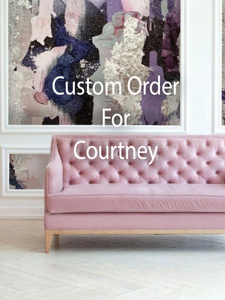 "Custom Lavender Storm Wall Mural 144 3/4"" wide  x 80"" tall"