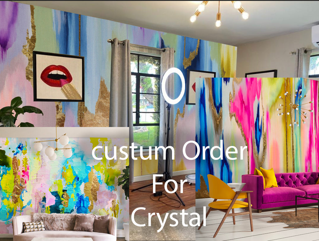Custom Canvas Luxe Wall Murals For Crystal