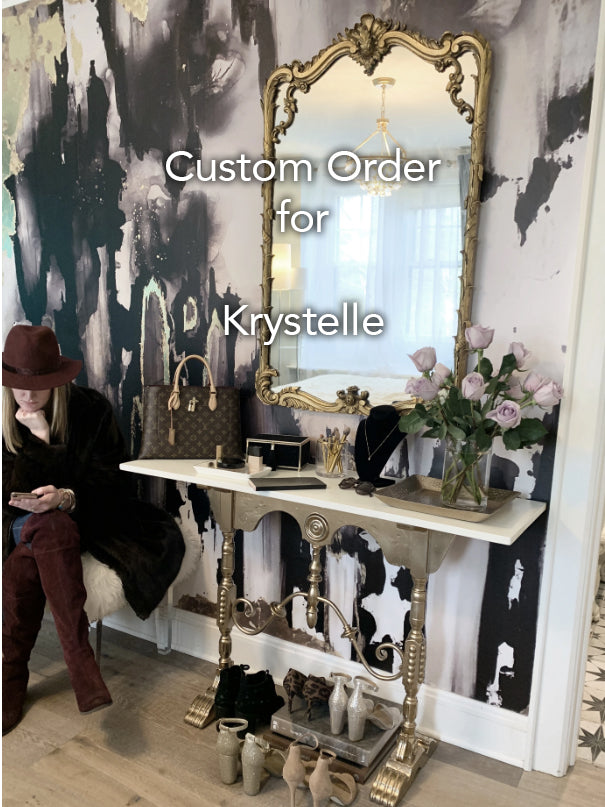 "Custom ""Edges"" Wall Mural 35"" High  x 68"" Wide for Krystelle"