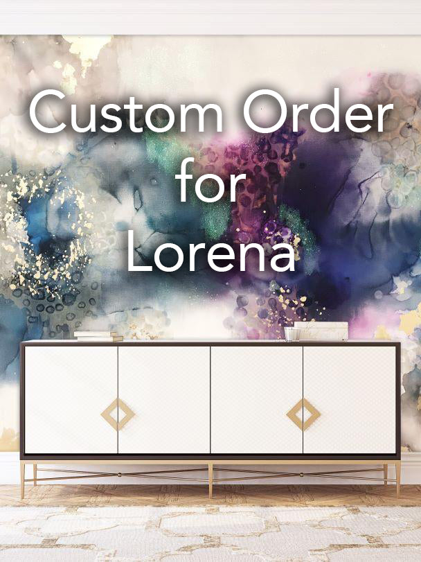 "Custom ""Black Pearl"" Wall Mural 10' tall by 15' wide For Lorena"