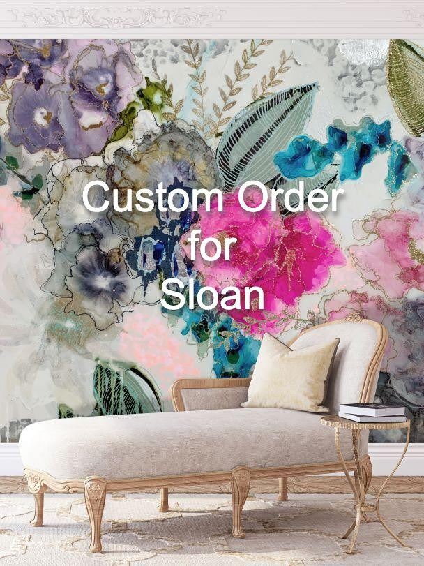 "Panel 3 from order 1628  ""Wisteria"" Oversized Wall Mural"