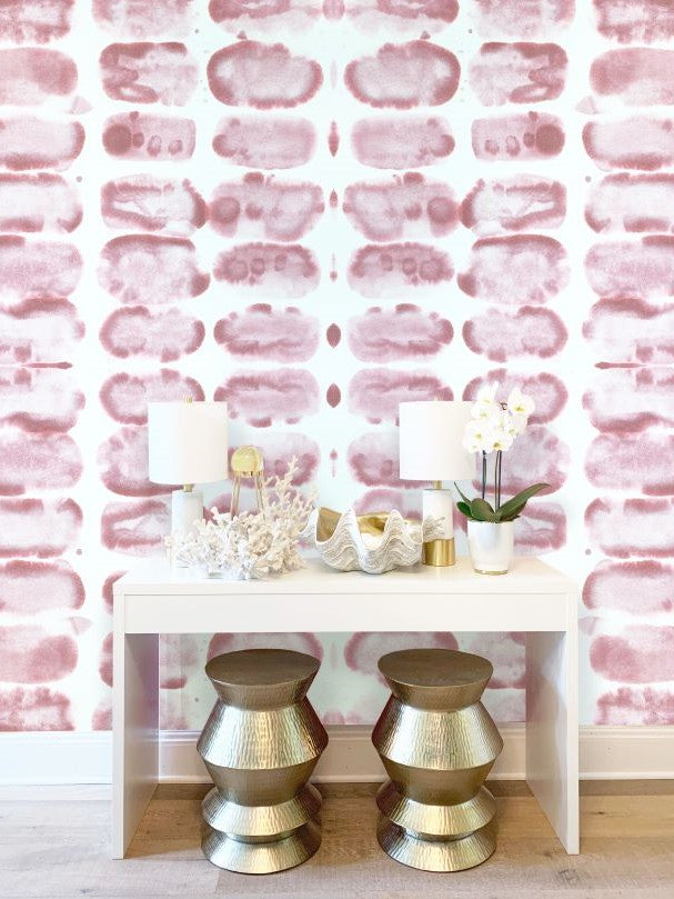 blush pink removable wall paper for sale -Vivian Ferne