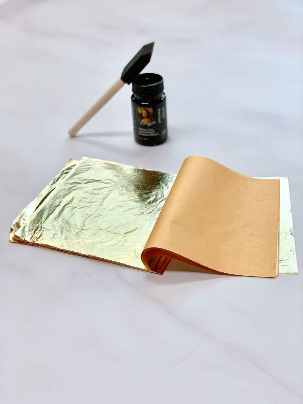 Gold Leaf Kit to apply real gold onto wallpaper