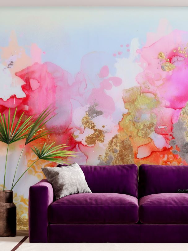 Abstract Wall Mural Wallpaper for Bed and Breakfast Resort