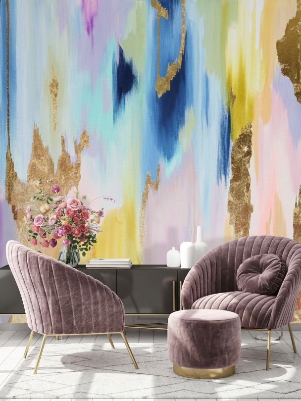 Rainbow Wall Mural Removable Wallpaper