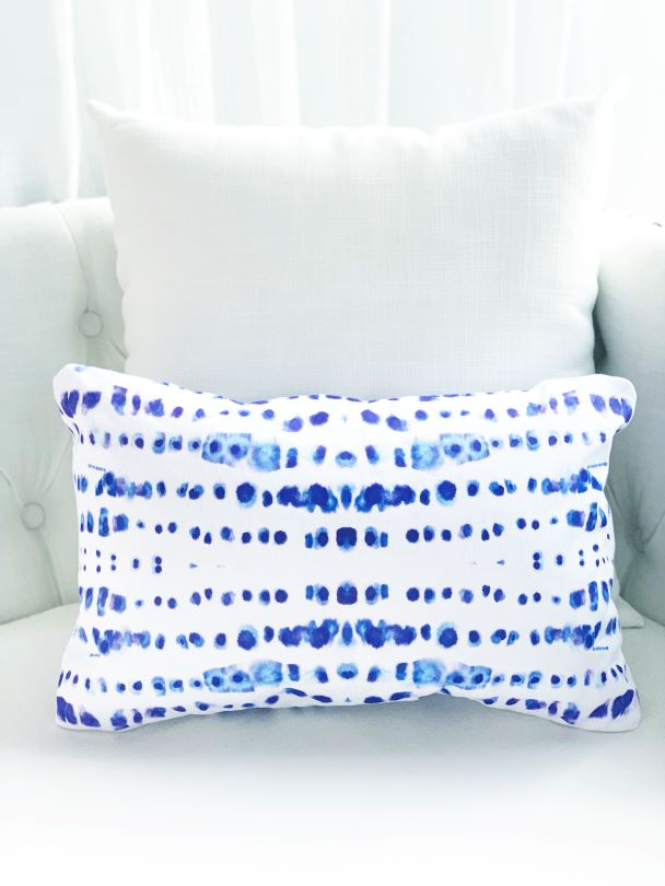 indigo blue decorative dot pillow for sales