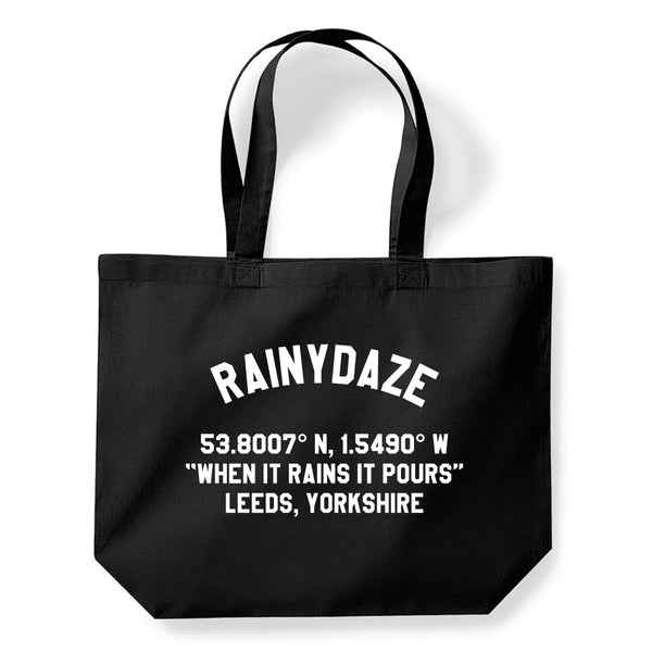 Coordinates Tote Bag (Black)