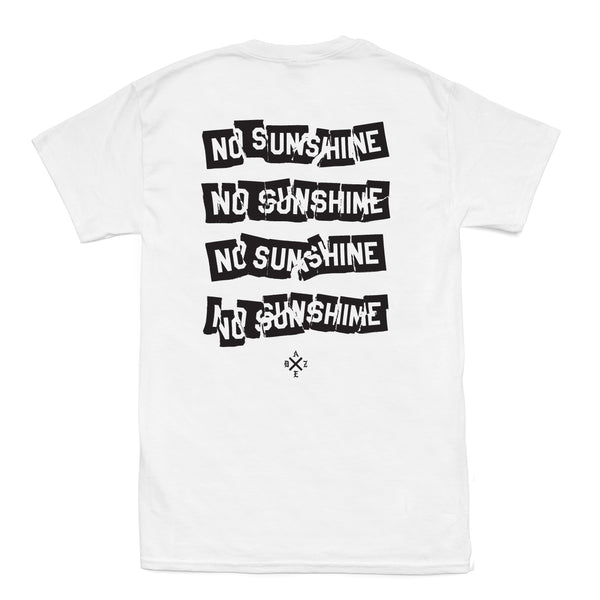 No Sun Stacked (White)