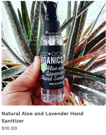 Natural Aloe Vera  and Lavender Hand Sanitizer