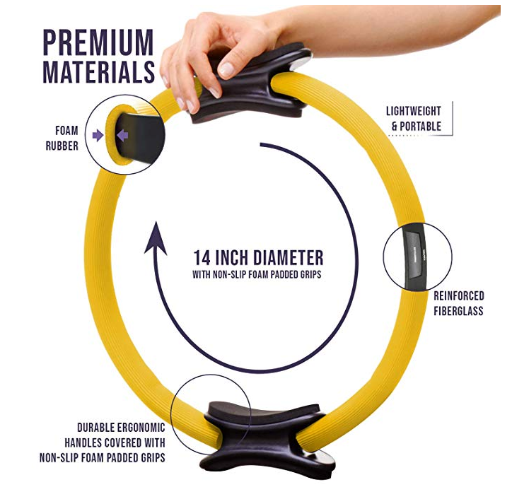 Pilates Ring w/Fitness Carrying Bag