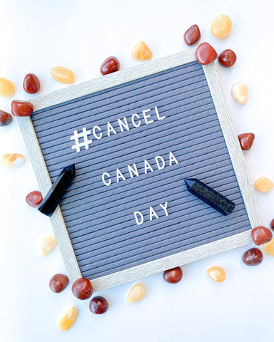 #Cancel Canada Day Gem and Letterboard photo