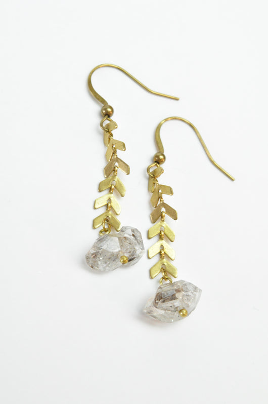 Petroleum Quartz Diamond Gemstone Earrings