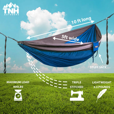 Single Camping Hammock With Steel Carabiners