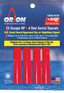 Hp 4-Pack 12 Gauge Red Aerial
