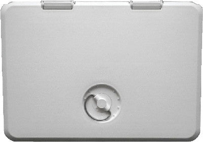 11x15 Locking Hatch-Polar Wht