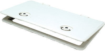 13x30 Locking Hatch-Polar Wht