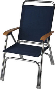 Deck Chair-High Back Navy