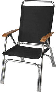 Deck Chair-High Back Black