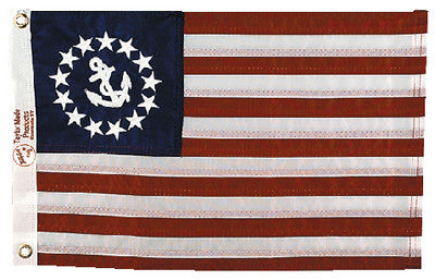 12 X 18 Sewn Us Yacht Ensign