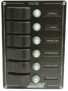 Rocker Switch Panel-6 Position