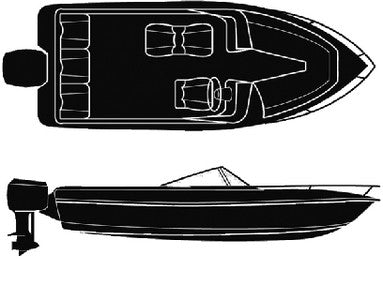 19'6  V-Hull With O/B Cover