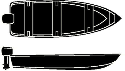 16'6  V-Hull Fish Wd Cover