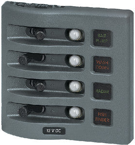 Panel Wd 12vdc Clb 4 Pos Gray