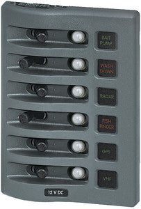 Panel Wd 12vdc Clb 6 Pos Gray