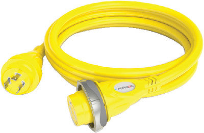 30a Cordset 25ft Yellow Led
