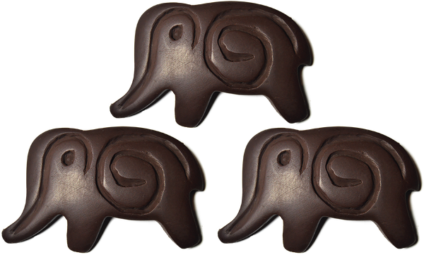 75% Dark Chocolate Elephant 3 Pack