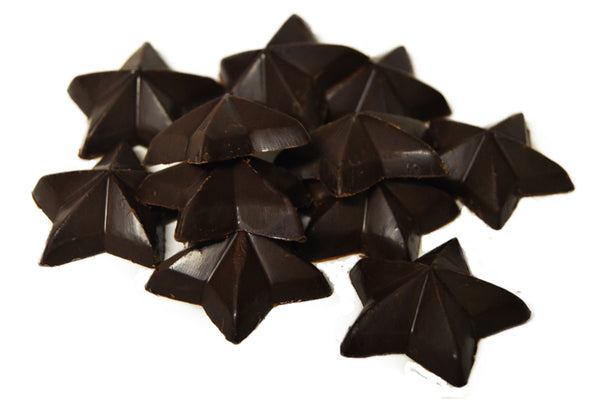 100% Dark Chocolate Baking Stars 5LBS