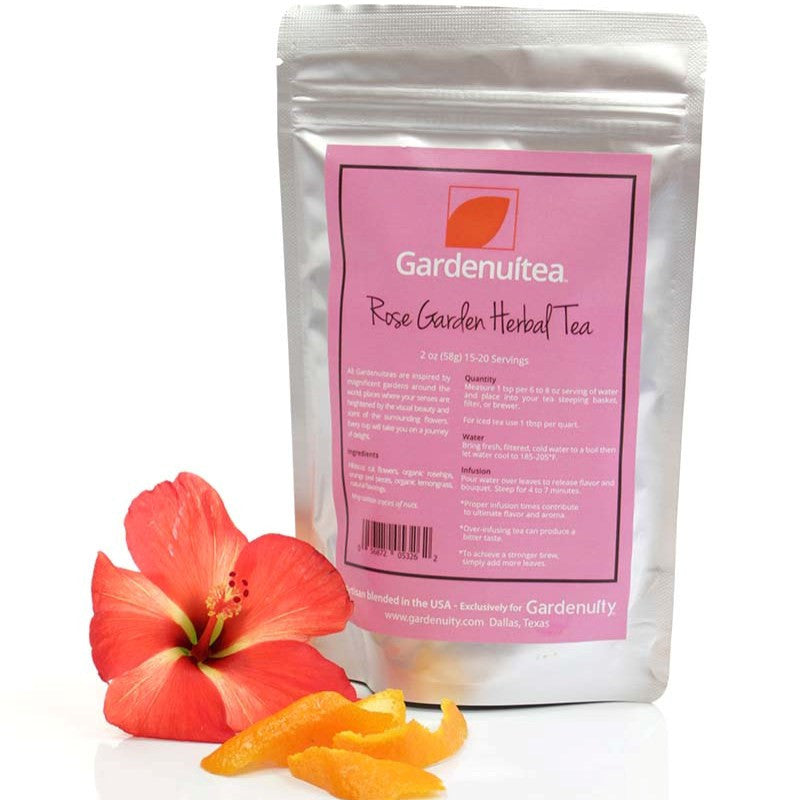 Loose Leaf <br>Rose Garden Herbal Tea<br>Rosehips, Hibiscus and Strawberry - 2 oz