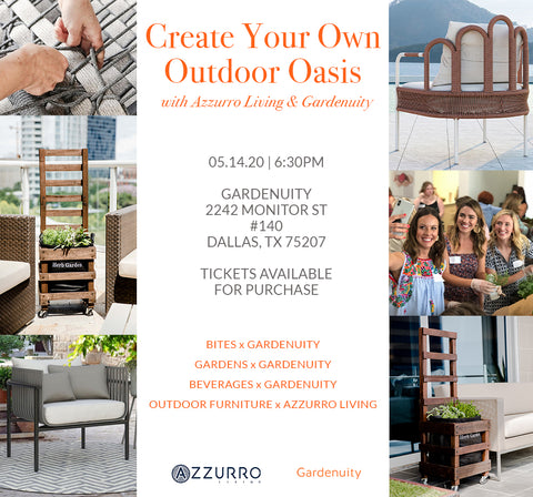 Create Your Own Outdoor Oasis | Event Ticket - May 14th