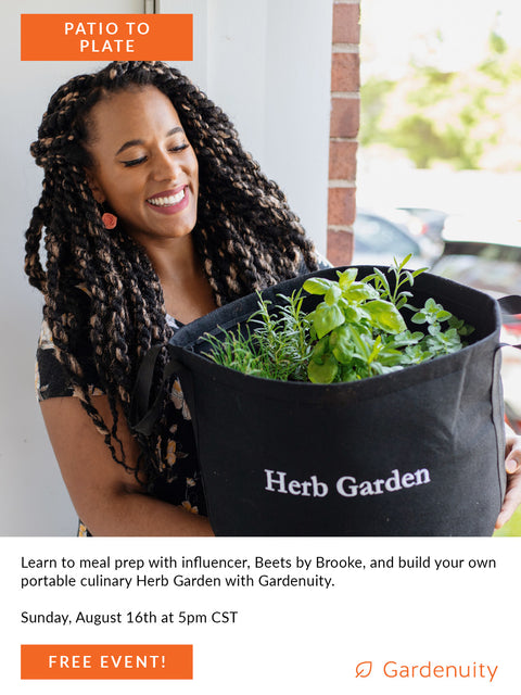FREE Patio to Plate: Virtual Plant-Based Meal Prepping Workshop with Brooklynne Palmer | August 16th
