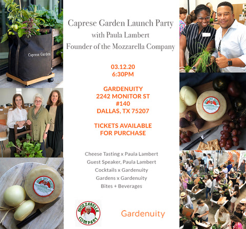 Caprese Garden Launch Party March 12th