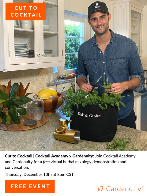 FREE Cut to Cocktail: Cocktail Academy x Gardenuity | December 10th at 8:00 PM CST
