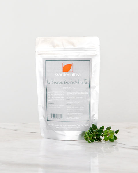 Loose Leaf <br>Le Roseraie White Tea<br>Sweet Rose & White Tea Leaves