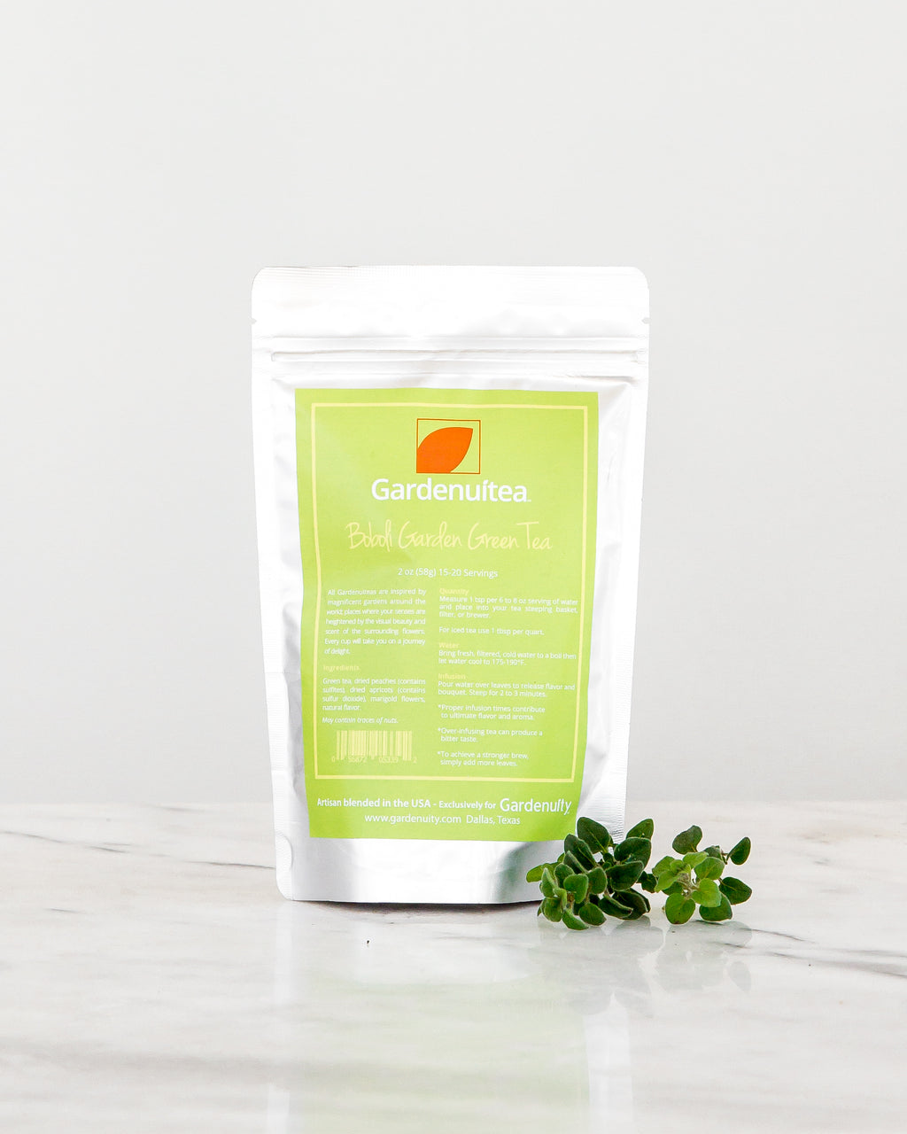 Loose Leaf Boboli Green Tea: Peaches, Apricots & Marigold