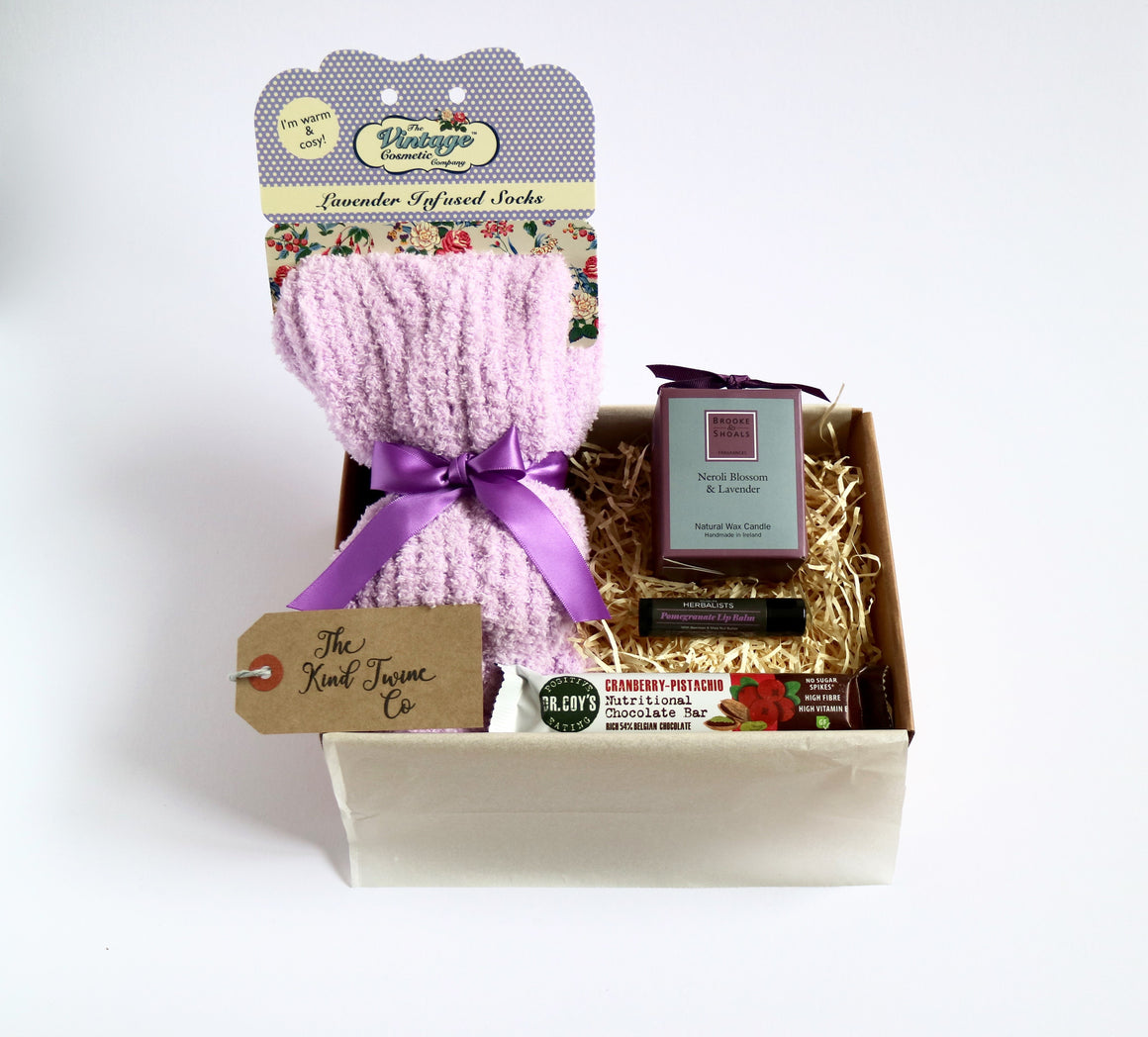 send a smile gift box cosy socks women's candle