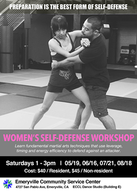 WOMEN'S SELF-DEFENSE WORKSHOPS in EMERYVILLE!