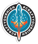 #craftyourhigh Rocket Sticker