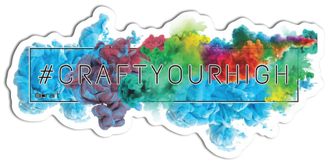 #craftyourhigh Tie Dye Sticker