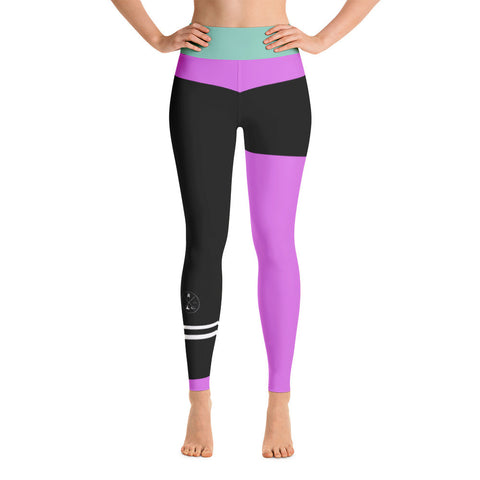 Pink vs Black Yoga Leggings