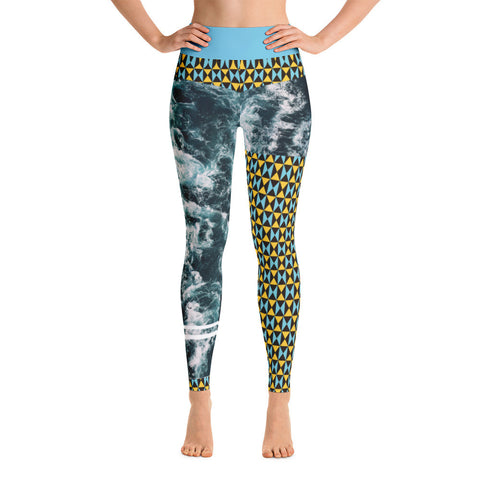Oceanic Coral Yoga Leggings