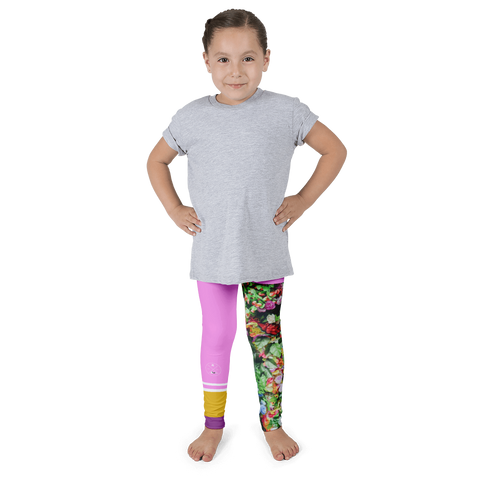 Pink vs Flowers Kid's leggings