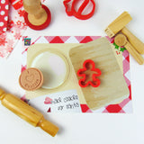Cookies For Santa Dough Mat with Dough