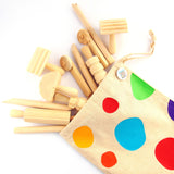 Child's Wooden Dough Tool Set