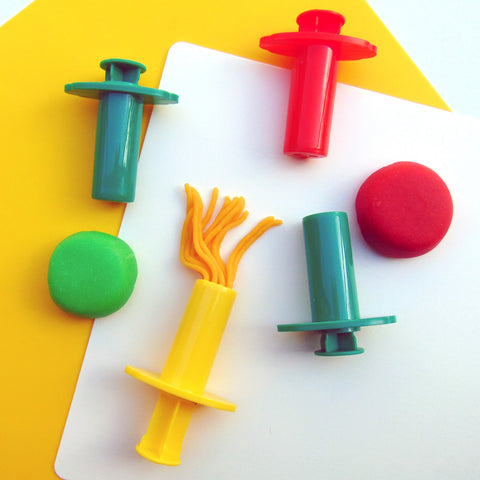 Child's Dough Tools - dough extruders set of four