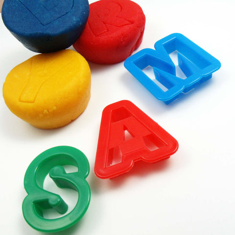 Child's Dough Tools - Individual Alphabet Cutters