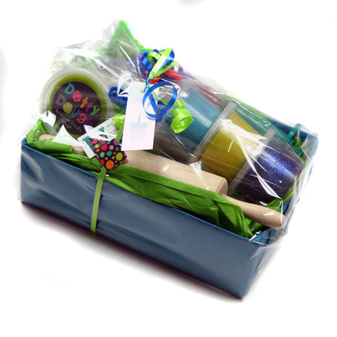 Handmade Child's Dough Hamper - Blue